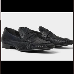 NWT Zara mens shoes leather snake style